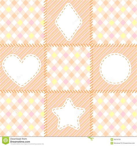 Patchwork Shapes - patchwork pattern of geometric shapes stock photos image