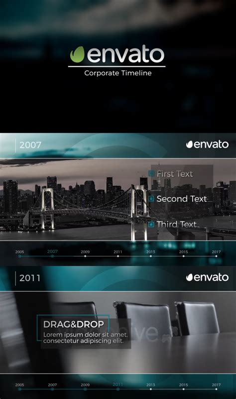 after effects timeline template corporate timeline corporate after effects templates