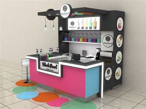 design booth bubble tea blackpearl bubble tea shopping mall stand budapest on