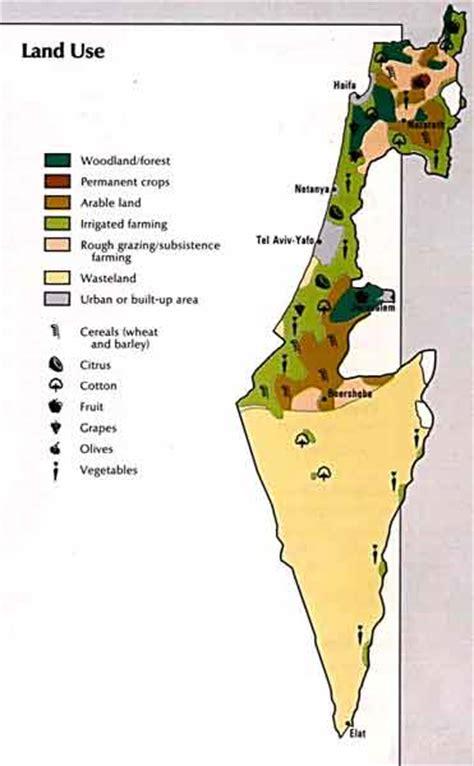map  israel land