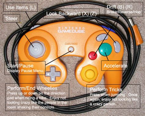 gamecube layout kontrols mario kart wii