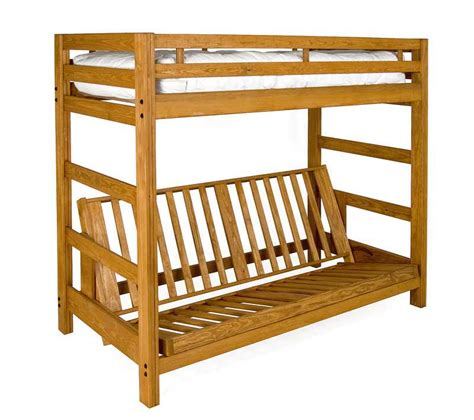 wooden bunk beds with futon liberty futon bunk bed