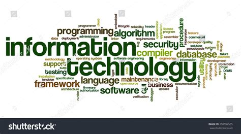 related words word cloud containing words related software stock vector
