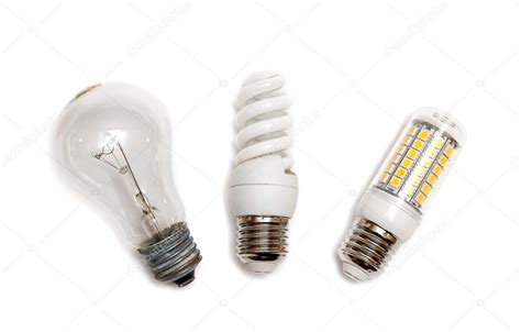 different types of light bulbs stock photo