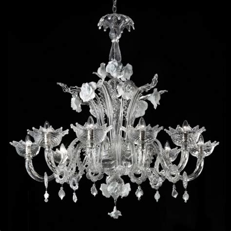 primavera 8 lights murano glass chandelier murano glass quot artico quot 8 lights transparent and white murano glass chandelier murano glass chandeliers