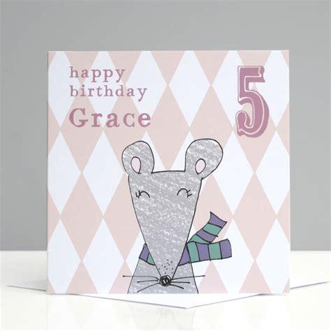 Children S Personalised Birthday Cards Personalised Mouse Children S Birthday Card By Molly Moo