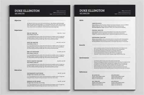 Cv Template Pages 2 Page Resume Format Learnhowtoloseweight Net