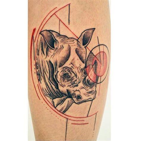 rhino pattern tattoo 90 rhino tattoo designs for men cool rhinoceros ink