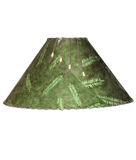 Handmade Paper L Shades - forest green fern l shade rustic artistry