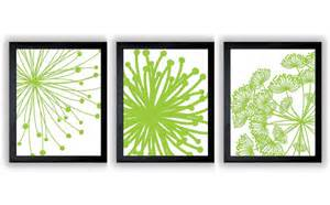 Instant download lime green yellow flower flowers set of 3