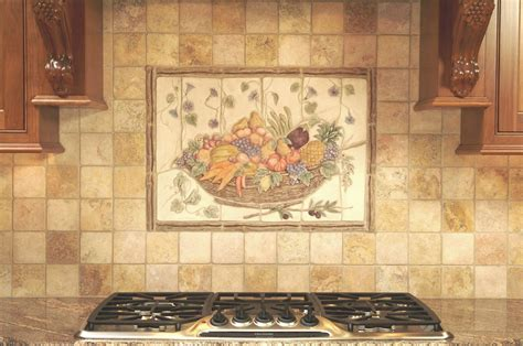 mural tiles for kitchen backsplash ceramic tile kitchen backsplash murals