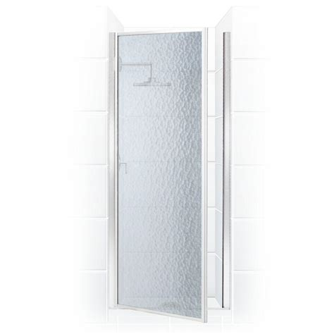 28 Shower Door Coastal Shower Doors Legend Series 28 In X 68 In Framed Hinged Shower Door In Chrome With
