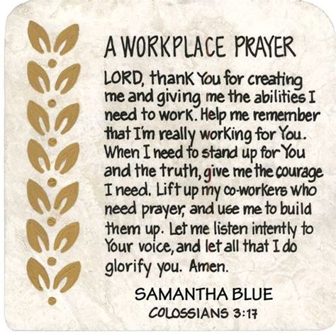 Work Pray prayer for workplace buscar con oraci 243 n