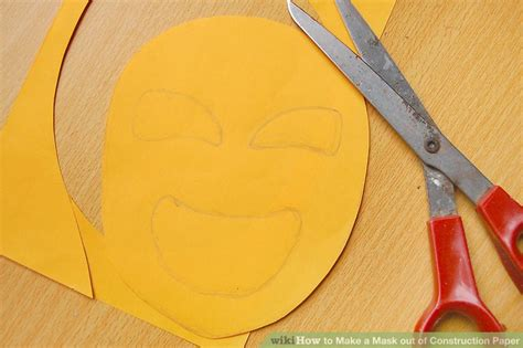 How To Make A Out Of Construction Paper - how to make a mask out of construction paper with pictures
