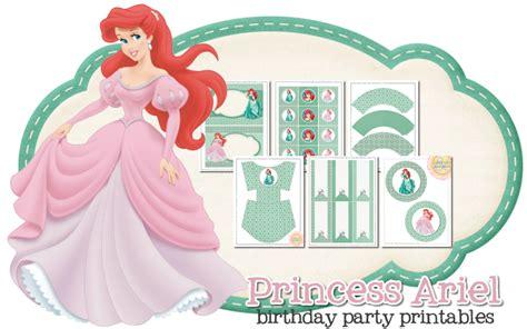 free printable ariel birthday decorations peonies and poppyseeds april 2013