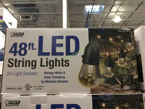 feit electric string lights costco feit outdoor weatherproof string light set led lighting