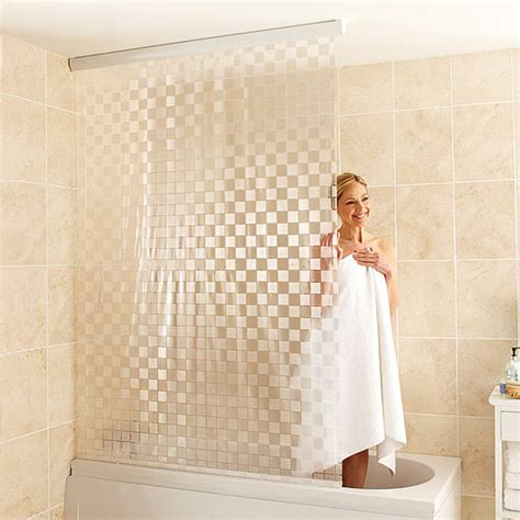 plastic curtains for bathroom shower curtain roller blind bath waterproof white plastic