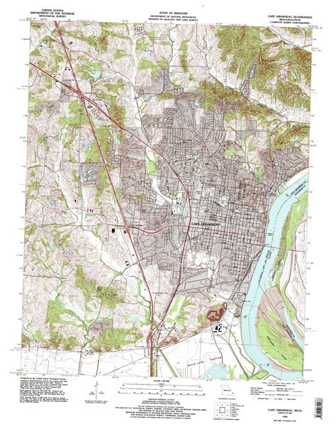missouri map cape girardeau cape girardeau topographic map mo il usgs topo