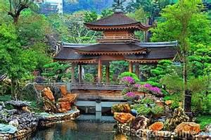 pagoda in zen garden china