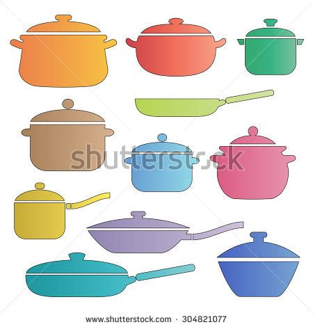 colorful cookware colorful clipart pots and pans pencil and in color