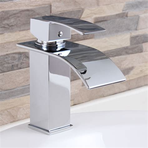 waterfall kitchen sink elite modern bathroom sink waterfall faucet chrome finish
