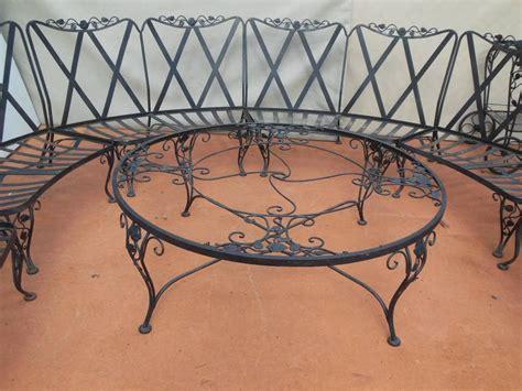 Woodard Patio Set Chantilly Rose Pattern 11 Pieces Woodard Wrought Iron Patio Furniture