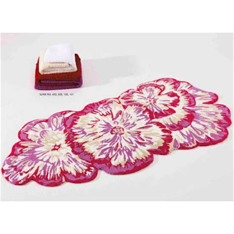 floral bath rugs pink floral bath mats rugs abyss habidecor sheet envy