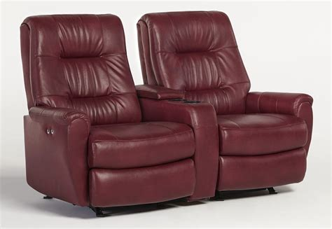 Console Loveseat Recliners by Felicia Small Scale Rocking Reclining Loveseat With Drink