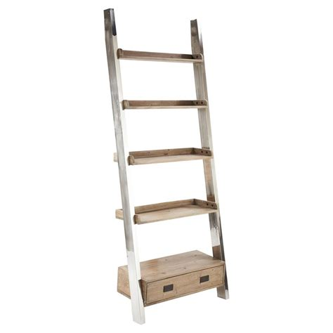 Metal Ladder Bookcase Wood And Metal Bookcase With Metal Ladder Bookcase