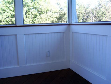 Hanging Beadboard - screen rooms with bead board knee wall traditional porch st louis by heartlands building