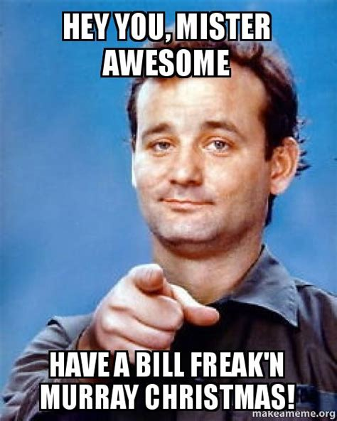 Murray Meme - hey you mister awesome have a bill freak n murray