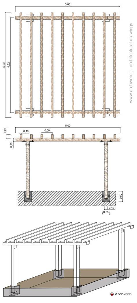 tettoie in legno dwg tettoia in legno