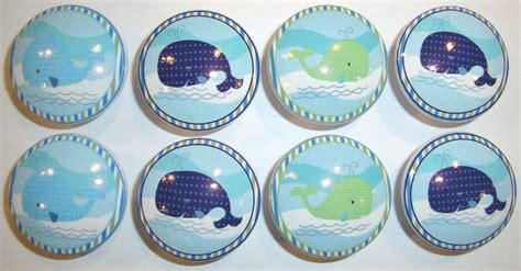 Nursery Dresser Knobs by Handmade Whales Dresser Drawer Knobs Set Of 8
