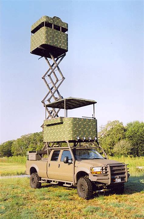 hunting truck 13 unusual high tech and super redneck deer stands