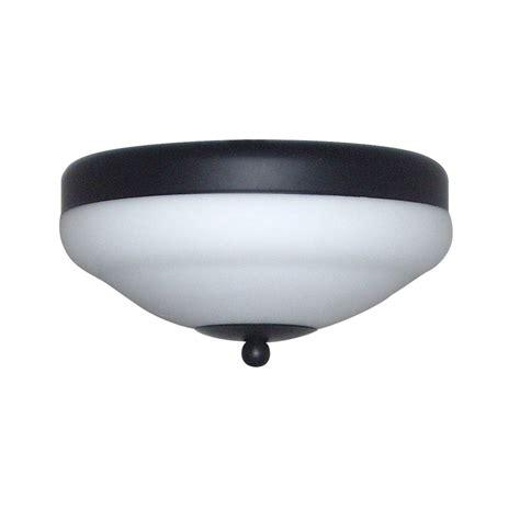 black ceiling fan light kit shop harbor 2 light matte black ceiling fan light