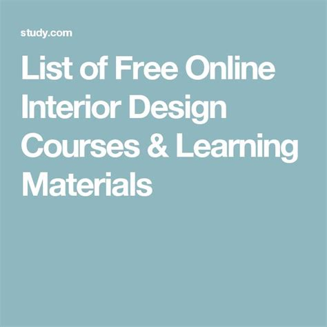 free courses for interior design 17 best ideas about interior design courses on