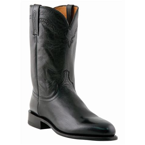 lucchese roper boots lucchese m1010 c2 calfskin roper boots black