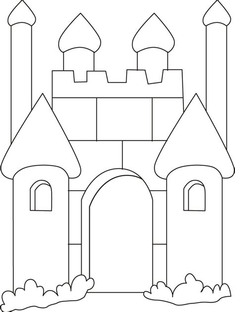 coloring page castle free princess castle coloring pages