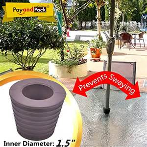 Patio Umbrella Wedge Myard Umbrella Cone Wedge Fits Patio Table Opening Or Base 2 To 2 5 Inch Pole Diameter 1