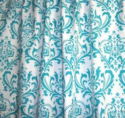120 X 84 Drapes One Curtain Panel Unlined Turquoise Blue And By Kirtamdesigns