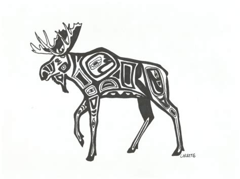 tribal moose tattoo alaskan moose tribal style in sharpie ink by essence of