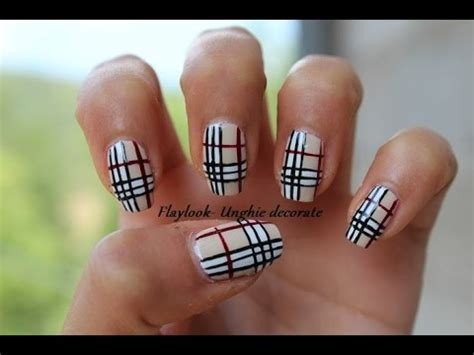 tutorial nail art burberry video tutorial 108 nail art burberry by flaylook youtube
