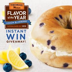 Sweepstakes Today Only - thomas bagels instant win game giveaway 10 000 winners today only