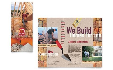 home builder contractor brochure template word publisher