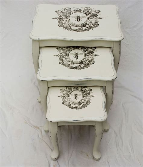 shabby chic nest of tables no 05 touch the wood