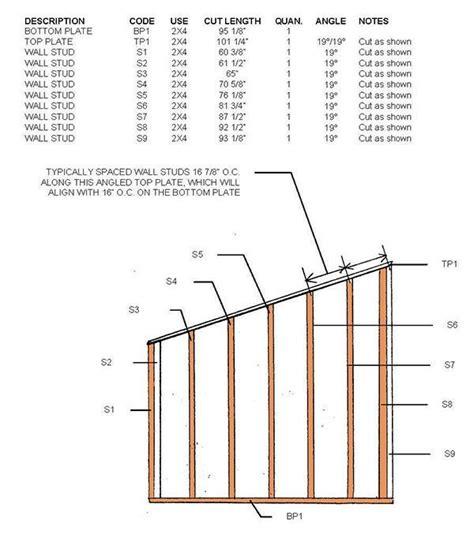 lean  shed plans blueprints   durable slant