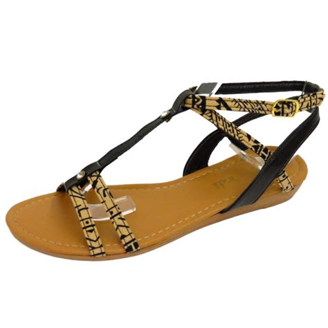 8 Must Gladiator Sandals For Summer by Womens Black Gladiator Flat Flip Flop Shoes Summer