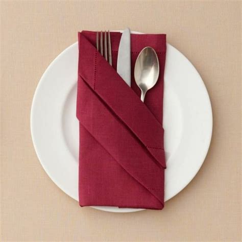 Paper Napkin Folding Directions - napkin folding cutlery pocket tinker easter