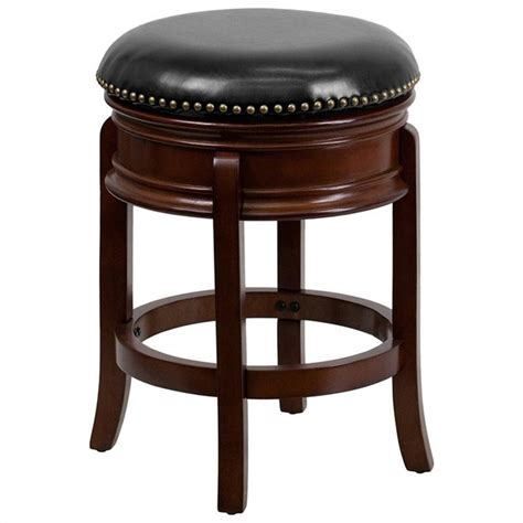 bar stool height for counter flash furniture backless 24 quot or 29 quot counter height cherry