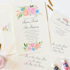 Unique Floral Wedding Invitations by Unique Wedding Invitations Stationery Mospens Studio